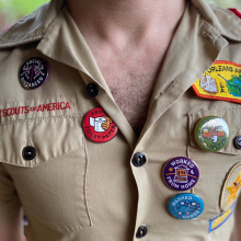 Social Distancing Heros Merit Badges - Button Set by Dirty Coast in Miramar Beach FL