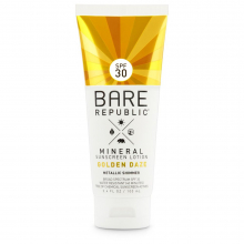 Mineral Shimmer SPF 30 Golden Daze Sunscreen lotion