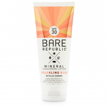 Mineral Shimmer SPF 30 Rose Gold Sunscreen lotion