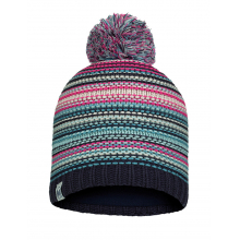 Junior Knitted & Fleece Hat Amity Night Blue by Buff