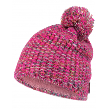 Knitted & Fleece Hat Grete Pink by Buff