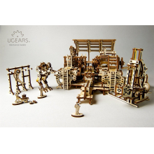 Mechanical Town Robot Factory by UGears