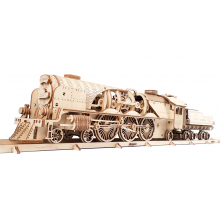 V-Express Steam Train with Tender by UGears