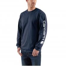 Men's Signature Sleeve Logo LS TShrt Org Fit by Carhartt