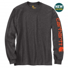 Men's Signature Sleeve Logo LS TShrt Org Fit by Carhartt in Loveland CO