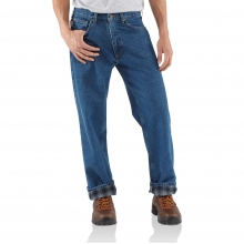 Relaxed Fit Jean - Straight Leg/Flannel
