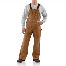 Sandstone Duck Bib Overall / Quilt-Lined by Carhartt