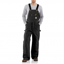 Duck Zip-to-Thigh Bib Overall/Quilt Lined by Carhartt
