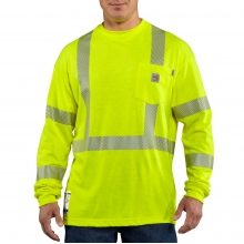 Flame-Resistant High Visibility Long Sleeve Shirt by Carhartt