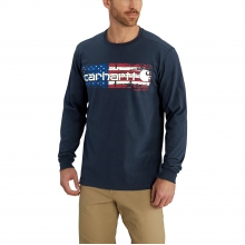 Lubbock Graphic Distressed Flag Long Sleeve T-Shirt by Carhartt