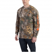 Workwear Graphic Camo Sleeve Long Sleeve T-Shirt by Carhartt