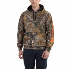 Midweight Camo Sleeve Logo Hooded Sweatshirt by Carhartt