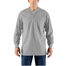 Flame-Resistant Force® Cotton Long-Sleeve Henley by Carhartt