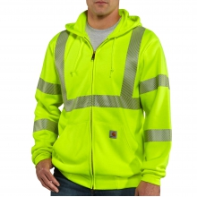 High-Visibility Zip-Front Class 3 Sweatshirt by Carhartt