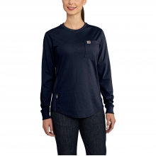 Women's FR Force Cotton Long-Sleeve Crewneck T-Shirt by Carhartt