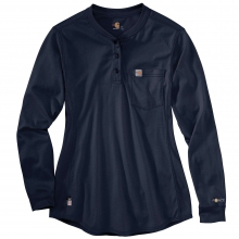 Women's FR Force Cotton Long-Sleeve Henley by Carhartt