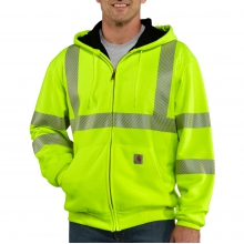 High-Visibility Zip-Front Class 3 Thermal-Lined Sweatshirt by Carhartt