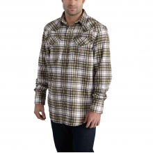 Flame Resistant Snap-Front Plaid Shirt by Carhartt