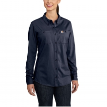 Women's FR Force Cotton Hybrid Shirt by Carhartt in Fort Collins CO
