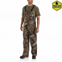 Men's Quilt Lined Camo Bib Overalls