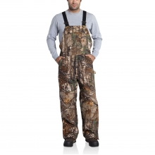 Quilt Lined Camo Bib Overalls by Carhartt