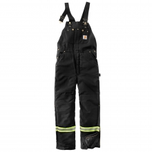 High-Visibility Striped Duck Bib Lined Overall/Arctic Quilt-Lined by Carhartt