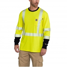 FR High-Vis Force Long Sleeve T-Shirt Class 3 by Carhartt