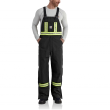 Flame-Resistant Striped Duck Bib Overall/Unlined by Carhartt