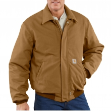 Flame-Resistant Duck Bomber Jacket/Quilt-Lined by Carhartt