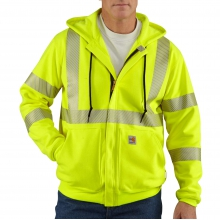 Flame-Resistant Heavyweight High-Visibility Class 3 Hooded Zip-Front Sweatshirt by Carhartt