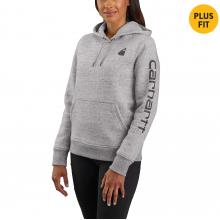 Women's Clarksburg Sleeve Logo Hooded Sweat by Carhartt in Omak WA
