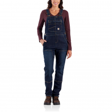 W Denim Double Front Bib Overalls by Carhartt