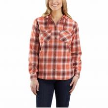 Women's Rlxd Fit Flannel Hdd Plaid Shirt