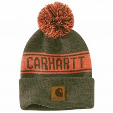 Men's AH487 M Knit Pom-Pom Graphic Hat by Carhartt
