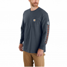 Men's TK430 M Org Fit HW LS Pkt Logo Tshrt by Carhartt