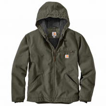 Men's OJ392 Washd Duck Sherpa Lined Hdd Jckt by Carhartt