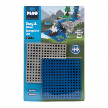 Baseplate Duo - Gray and Blue by Plus-Plus