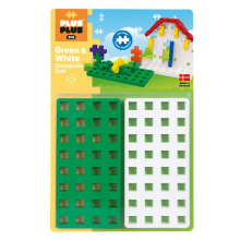 BIG Baseplate Duo (Green/White) by Plus-Plus
