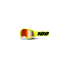 Racecraft 2 Goggle Fluo Yellow - Mirror Red Lens by 100percent Brand