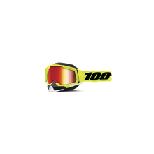 Racecraft 2 Snowmobile Goggle Fluo Yellow - Mirror Red Lens by 100percent Brand