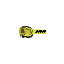 Racecraft 2 Snowmobile Goggle Fluo Yellow - Yellow Lens by 100percent Brand