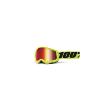 Strata 2 Youth Goggle Yellow - Mirror Red Lens by 100percent Brand