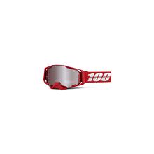 Armega Goggle War Red Hiper Silver Mirror Lens