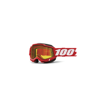 Accuri 2 Snowmobile Goggle Red - Yellow Vented Dual Lens