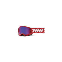 Accuri 2 Youth Goggle Red - Mirror Red/Blue Lens by 100percent Brand