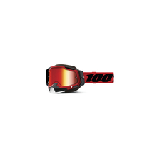 Racecraft 2 Snowmobile Goggle Red - Mirror Red Lens by 100percent Brand