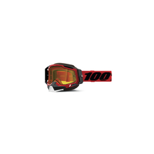 Racecraft 2 Snowmobile Goggle Red - Yellow Lens by 100percent Brand