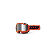 Accuri 2 Snowmobile Goggle Neon Orange - Mirror Silver Lens by 100percent Brand