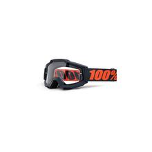 Accuri Enduro Moto Goggle Gunmetal Clear Dual Lens