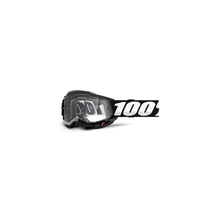 Accuri 2 Enduro Moto Goggle Black - Clear Dual Lens by 100percent Brand
